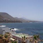 Ausblick auf den Nachbarort/Teide/Meer