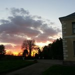 Sunset over the lawns - Kelly House Devon