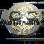 Jocs Boutique hotel signage