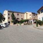 L'hôtel vu depuis le parking