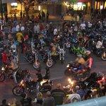 2013 ROT Biker's Rally Parade from Balcony Patio