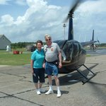 Post-flight in front of the R44