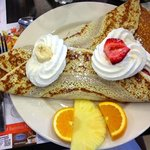 Classic banana and strawberry crepe