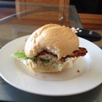 Panko-crusted fish sandwiches for lunch - YUM!