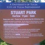 Stuart Park behind the museum sign