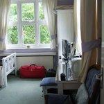 plenty luggage space, wardrobe, desk,double aspect windows