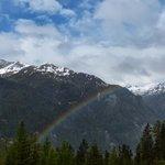 Looking down at a rainbow!
