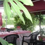 Outside restaurant with terrace