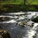 spitting distance until you are on the gorgeous river wharfe walk