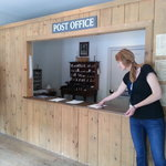Our Tour Guide Shandi Shows the Post Office