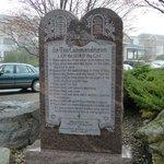 Ten Commandments outside hotel!