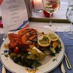 Garnelen und Meeresfrüchtesalat