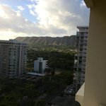 view towards Diamond head from our room on the 13th floor how lucky