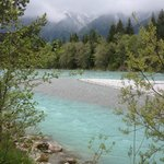 View of the river in beautiful Reutte