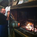 Chef Eric making soup