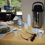 Coca tea station in the lobby