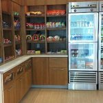 Refreshment area.