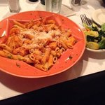 Penne Shrimp Fra Diavalo w/side of veggies