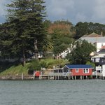 The Boatshed cafe as seen from the car ferry