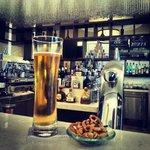 Enjoying a beer in their bar called Latitude