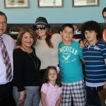 Itati cantoral and her family  visited our restaurant .