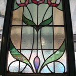 Period stained glass feature