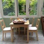 The breakfast area of the Garden Room