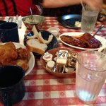 fried chicken and pork ribs