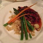 Antelope w/Red Currants, Spaetzel and Spring Vegetables