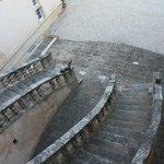 Escalier en fer à cheval
