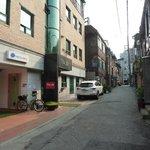 Street view outside Hostel