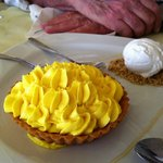 Amazing lemon tart with lemon ice cream!