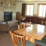 Living room/dining area of cabin
