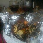 spaghetti uit de oven knoflook tomaat diverse schelpdieren- hoofdgerecht