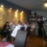 het restaurant binnen