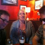 From left to right: Adam, Lynn and Andy enjoying a Sunday afternoon Guinness.