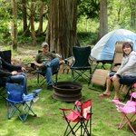 Family enjoying one of our campsites