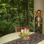 Open air dining pavillion