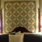 Lovely quilt behind the bed in Chesapeake Haven room