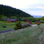 Ranch house and cabins