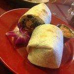 Pacifico Burrito w/ Edible Orchid
