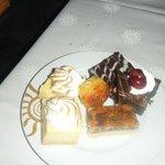 desserts from buffet