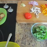 Mise en place for omelet