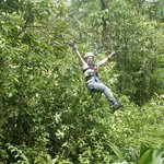 Woo hoo!  Ziplining over the rain forest!