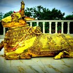 Nandi in front of Vishalakshi mantap