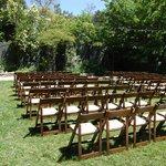 Wedding venue in garden