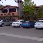 Front and main parking of hotel