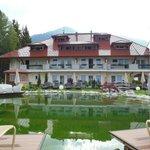 Side View of Hotel & Sunbathing pool