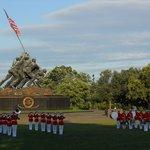 Ceremony at Marine's Monument