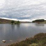 A nearby loch
